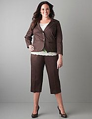Plus Size Career Pants and blazer. I want this fun and professional look.