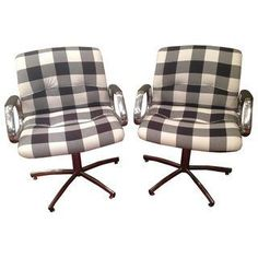 Steel Office Chairs - A Pair