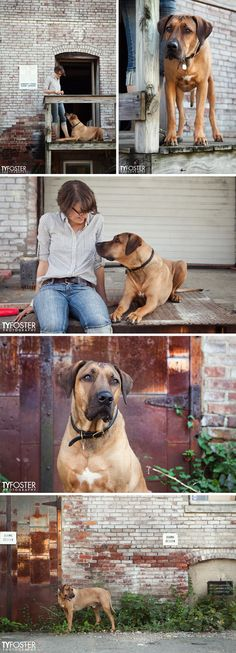 Rhodesian Ridgeback, Oscar, and illustrator Natalya Zahn, by Ty Foster Photography