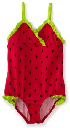 Pink Platinum Girls 2-6X Watermelon Prined Swimsuit