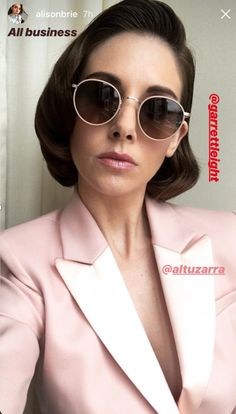 26829917fd Alison Brie business look with our Wilson Sun  GLCO GarrettLeight PinkPower  Alison Brie