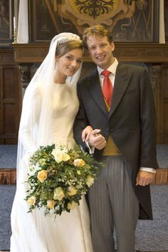 Prince Floris and Aimee of Orange-Nassau, van Vollenhoven-Sohnge wed on 22 Oct 2005