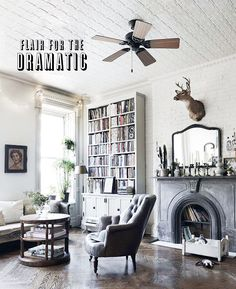 Lovely Harlem Brownstone ~ floor-to-ceiling bookshelf