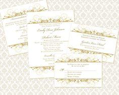 DIY Wedding Invitation Printable Template 5x7 by WeddingsbyJanieV ...
