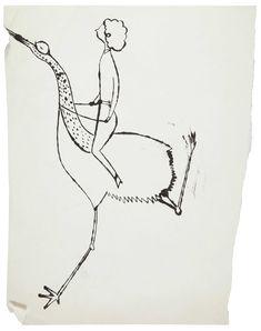 Woman Riding Bird