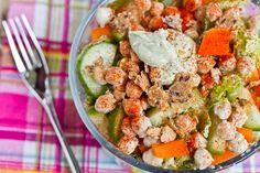 Tahini Avocado Chickpea Salad by theresheglows #Avodado #Chickpea #theresheglows