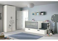 Dormitorio para bebé: Dormitorio bebé con cuna convertible lactancia   Dormitorio para bebé con cuna convertible especialmente diseñada pensado en las mamás durante el