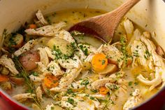 Stew on it.With these simple and hearty chicken stew recipes, you can warm yourself up from the inside.If you're looking for more chicken dinners, check out our next-level chicken breast recipes or … Easy Chicken Stew, Stew Chicken Recipe, Chicken Recipes, Stewed Chicken, Garlic Chicken, Chicken Casserole, Shredded Chicken, Rotisserie Chicken, New Recipes