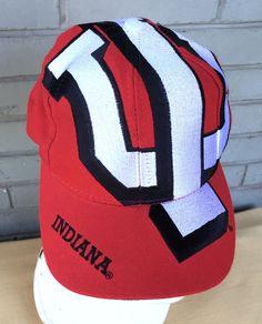 10a904d56e18a VTG Indiana Hoosiers Big Logo The Game Snapback Baseball Cap Hat University  NCAA