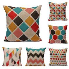 Géométrique abstrait housse de coussin imprimé taie d'oreiller canapé-lit chez Banggood
