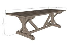 Specs for the Farmhouse Table~ I am so asking the wife to build this for me :)