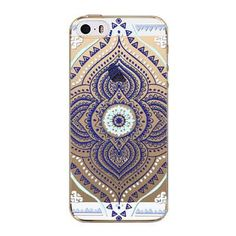 Retro Case For Apple iPhone 4 4s 5C Floral Paisley Flower Mandala Henna Coque Clear Silicone Soft Cover Fundas