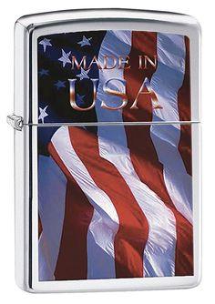 Zippo 2001144 Nr. 200 Made in USA Flag