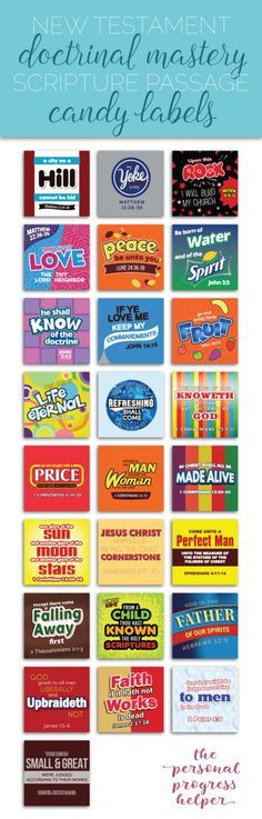 Items similar to Seminary New Testament Doctrinal Mastery Scripture Passage Candy Label Puns for LDS Youth Bible on Etsy Scripture Mastery, Family Scripture, Lds Seminary, Candy Labels, Candy Puns, Lds Youth, Lds Scriptures, Church Activities, Youth Activities