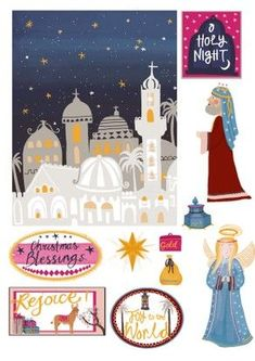 Free illustrated nativity printables #diy #craft