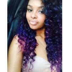 "Glamorous Deep Curl 18""22""24""26"" yhasiluxuryhair.com #yhasihair Yhasi glamorous.com Hair Color For Black Hair, Love Hair, Purple Hair, Gorgeous Hair, Dope Hairstyles, Weave Hairstyles, Hairstyle Ideas, Vibrant Hair Colors, Tree Braids"
