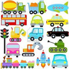 Eine Reihe von niedlichen Vector Icons: Auto / Fahrzeuge / Transport Stockfoto - 12184914