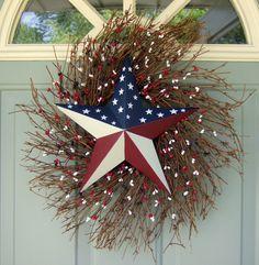 Patriotic Wreath - Fourth of July Wreath - Flag Wreath