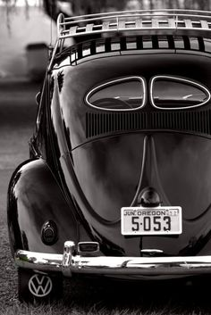 Black #VW #Beetle #fusca