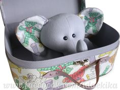 Mantinha elefante do curso de Bichos de tecido + Maleta Make do Curso de Cartonagem / Ida e Kika