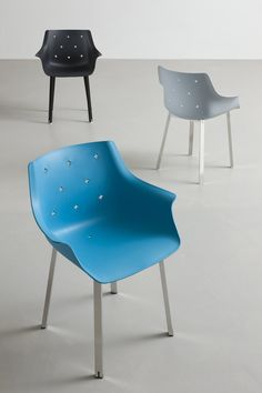 Polypropylene chair with armrests MORE by GABER | design Favaretto