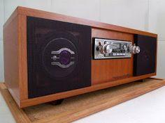 Speaker Box Diy, Diy Bluetooth Speaker, Speaker Box Design, Diy Speakers, Radios, Rack Vintage, Diy Boombox, Subwoofer Box Design, Audio Studio