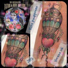 https://www.facebook.com/VorssaInk/, http://tattoosbykata.blogspot.com, #tattoo #tatuointi #katapuupponen#vorssaink #forssa #finland #traditionaltattoo #suomi #oldschool #pinup #hotairballoon