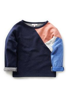 Technically a girl shirt, but the color blocking could go boyish with the right colors