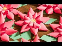 Do-It-Yourself Poinsettias for Christmas