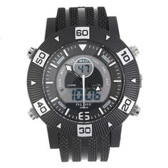 ALIKE Analog Digital Rubber Band Date Day Alarm Backlight Wrist Watch with RedGreenSilverYellowOrangeBlue color