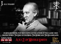 There cannot be an A-Z of Middle Earth without mentioning this literary geniuse J. R. R. Tolkien