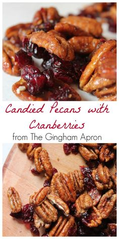 Candied pecans with cranberries- addictive!!!