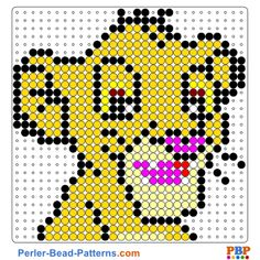 Simba perler bead pattern. Download a great collection of free PDF templates for your perler beads at perler-bead-patterns.com