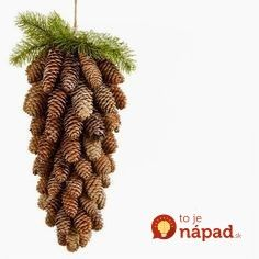 Cheap and Easy Christmas Decorations for Living Room - Pine Cone Ornaments Pine Cone Christmas Tree, Simple Christmas, All Things Christmas, Christmas Holidays, Cheap Christmas, Easy Christmas Decorations, Holiday Crafts, Christmas Wreaths, Christmas Ornaments