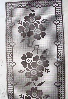 @nika Filet Crochet Charts, Crochet Doily Patterns, Crochet Doilies, Fillet Crochet, Crochet Tablecloth, Chrochet, Irish Crochet, Stencils, Cross Stitch