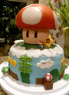 Super Mario Birthday Cake.....cutest one I've seen :)