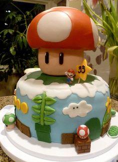 Super Mario Birthday Cake.....cutest one I've seen :)