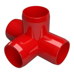 Build frame edges of structural PVC applications with this Formufit Furniture Grade PVC Tee in Red. UV resistant for added safety. Pex Tubing, Copper Tubing, Furniture Grade Pvc, Above Ground Pool Landscaping, Pvc Projects, Plumbing Problems, Pvc Material, Pvc Pipe, In Ground Pools