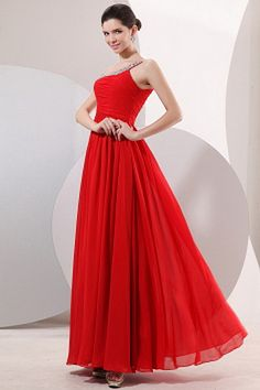 One-shoulder Elegant Red Celebrity Dress - Order Link: http://www.theweddingdresses.com/one-shoulder-elegant-red-celebrity-dress-twdn2141.html - Embellishments: Beading , Tiered , Draped , ; Length: Floor Length; Fabric: Chiffon; Waist: Natural - Price: 147.84USD
