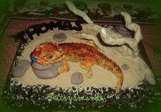 Patry's Cake:  Bearded Dragon Cake