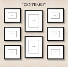 Centered: This simple layout requires minimal effort. Just choose one or two frames to center and align the left and right sides with one another.: