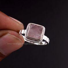 Raw Rose Quartz, Rose Quartz Ring, Quartz Stone, Handmade Rings, Handmade Bracelets, Earrings Handmade, Raw Gemstone Ring, Gemstone Necklace, Raw Gemstones