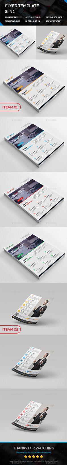 Corporate Modern Flyer Desig Template - Corporate Flyer Template PSD. Download here: https://graphicriver.net/item/modern-flyer/17428346?ref=yinkira