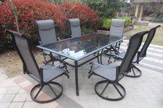 $1100 Amazon.com : 7pc Cast Aluminum Patio Dining Set : Outdoor And Patio Furniture Sets : Patio, Lawn & Garden
