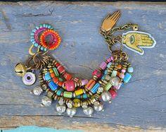 Bohemio brazalete hippie hippy gypsyRustic multi étnico