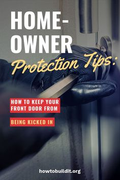 Homeownership is the American dream. With these homeowner tips you can learn how to keep your home protected and free from someone kicking in your door. Hollow Core Doors, Home Ownership, Home Repair, Exterior Doors, Social Platform, How To Run Longer, Home Buying, Kicks, Parenting