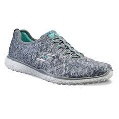 Skechers Microburst Fluctuate Women's Shoes, Girl's, Size: 5.5, Med Grey