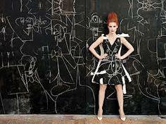 fashion meets art - Jessica Chastain