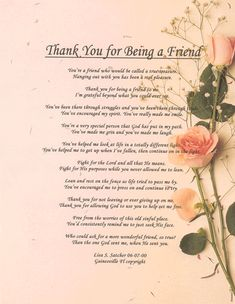 Inspirational Friendship Poems   ... Inspirational Christian Poetry - Poems - Thank You For Being A Friend