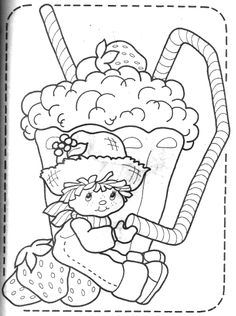 original strawberry shortcake coloring pages | 141 Best Strawberry Shortcake coloring pages images ...